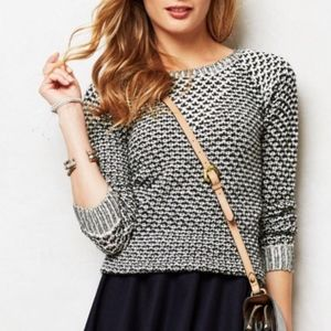 Anthropologie Sparrow Knit Sweater Black and White